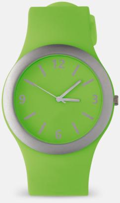 Ljusgrön Välj urtavla till silikonklockor med reklamtryck