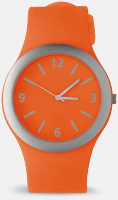 Orange Klockor med silikonband med reklamtryck