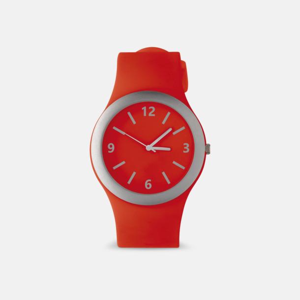 Röd Klockor med silikonband med reklamtryck