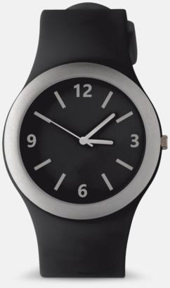 Svart Klockor med silikonband med reklamtryck
