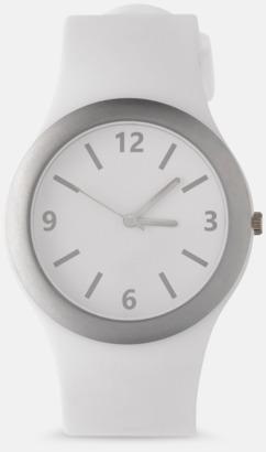 Vit Klockor med silikonband med reklamtryck