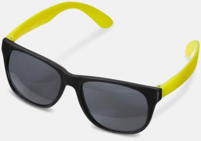 Svart / Gul Solglasögon med neon skalmar med reklam