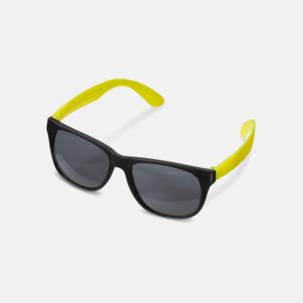 Solglasögon med neon skalmar med reklam