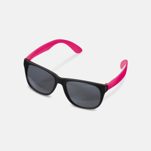 Svart/Rosa Solglasögon med neon skalmar med reklam