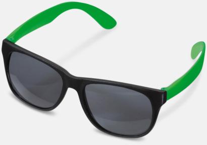 Svart / Grön Solglasögon med neon skalmar med reklam