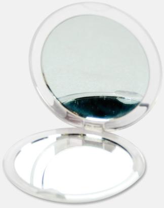 Transparent Vit Fickspegel med 2 speglar - med reklamtryck