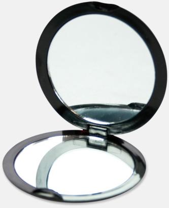 Svart Fickspegel med 2 speglar - med reklamtryck
