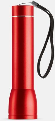 Röd Ficklampa med powerbank med reklamtryck