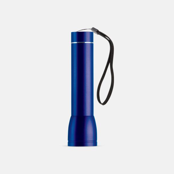 Mörkblå Ficklampa med powerbank med reklamtryck