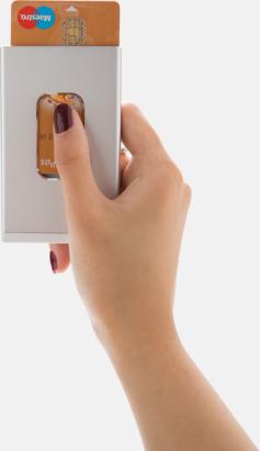 Powerbank med visitkortshållare med reklamtryck
