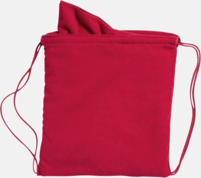 Röd Gymnastikpåse med matchande handduk med reklamlogga