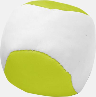 Limegrön Billiga jongleringsbollar med reklamtryck