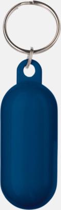 Blå Flytande nyckelringar med reklamtryck