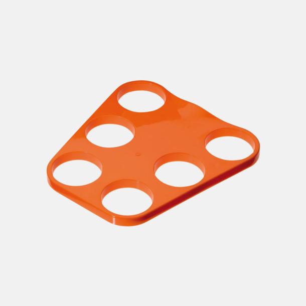 Orange Kopphållare med 6 platser - med reklamtryck