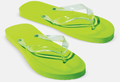 Ljusgrön Flipflop-tofflor med reklamtryck