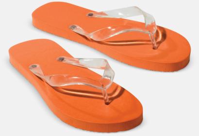 Orange Flipflop-tofflor med reklamtryck