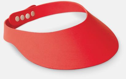 Röd Solskärmar i EVA-material med reklamrtryck