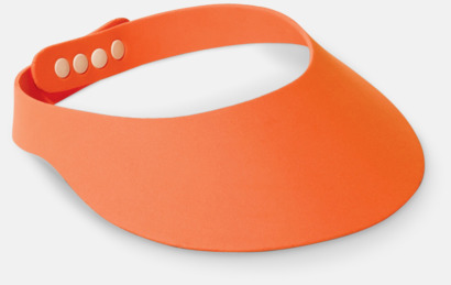 Orange Solskärmar i EVA-material med reklamrtryck
