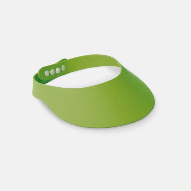 Ljusgrön Solskärmar i EVA-material med reklamrtryck
