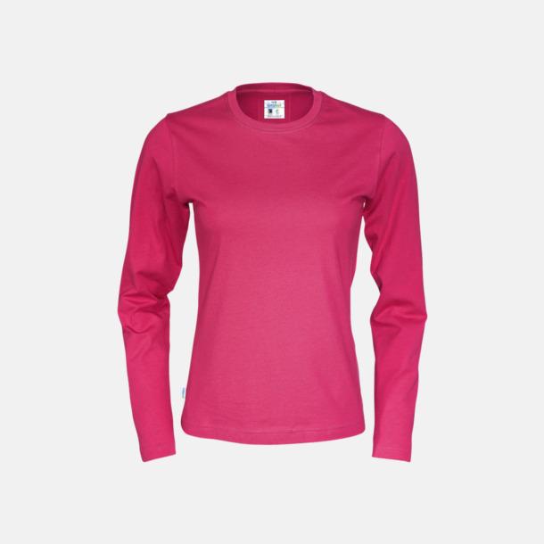Cerise (dam) Långärmade eko t-shirts med reklamtryck