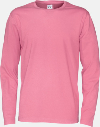 Rosa (herr) Långärmade eko t-shirts med reklamtryck
