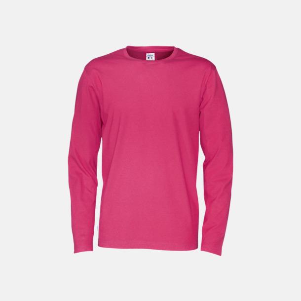 Cerise (herr) Långärmade eko t-shirts med reklamtryck