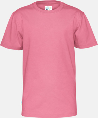 Rosa (barn) Multicertifierade t-shirts med reklamtryck