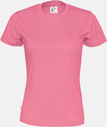 Rosa (dam) Multicertifierade t-shirts med reklamtryck