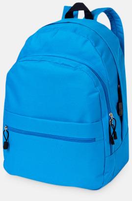 Aqua Blue Trendigt designade ryggsäckar med tryck