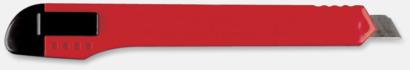 Röd Brytbladsknivar med reklamtryck