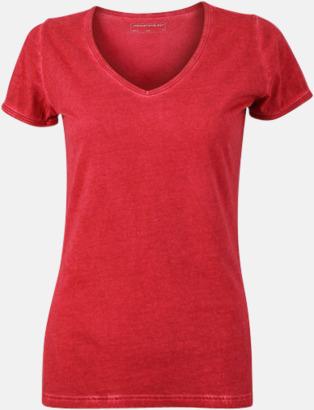 Chili (dam) Trendiga v-neck t-shirts i herr- och dammodell med reklamtryck