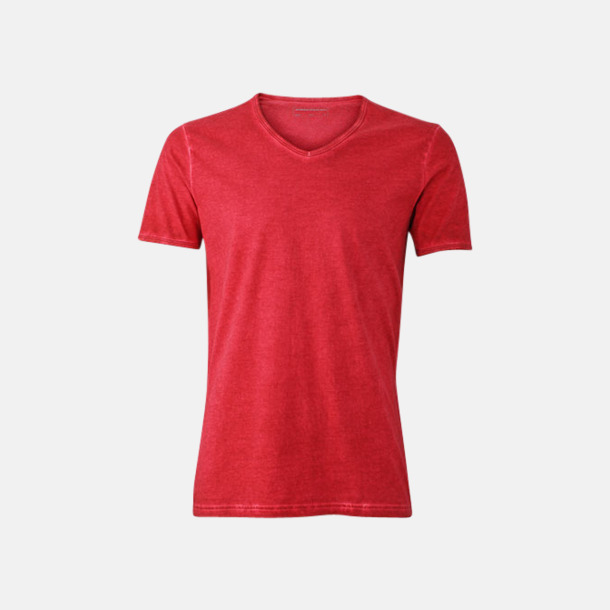 Chili (herr) Trendiga v-neck t-shirts i herr- och dammodell med reklamtryck