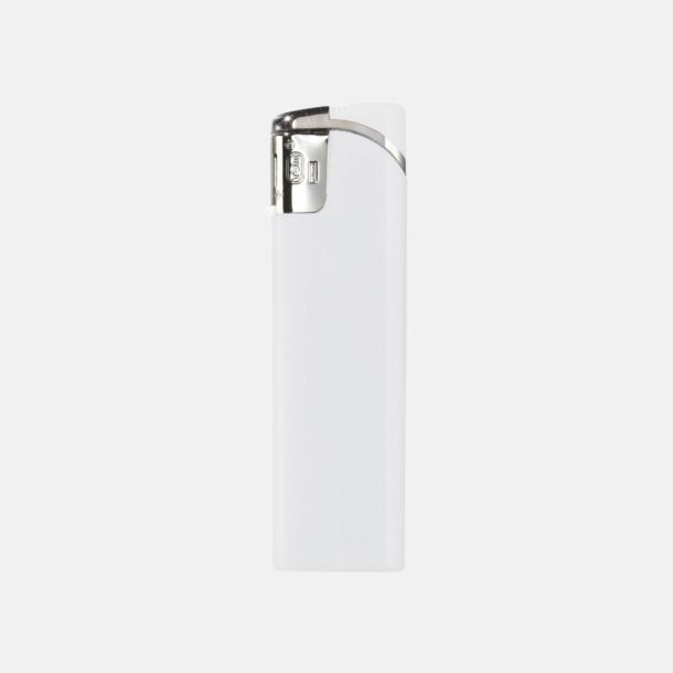 Vit Snygga tändare i plast med reklamtryck