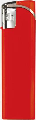 Röd Snygga tändare i plast med reklamtryck