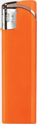 Orange Snygga tändare i plast med reklamtryck