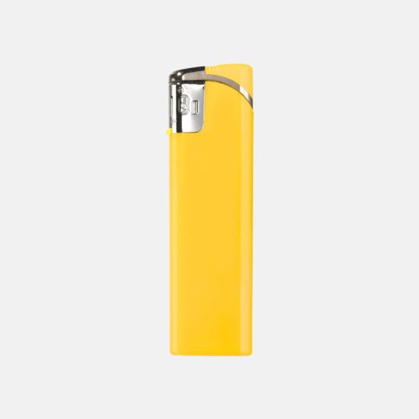 Gul Snygga tändare i plast med reklamtryck