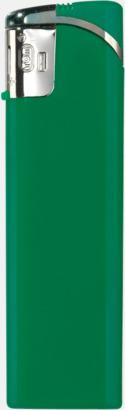 Grön Snygga tändare i plast med reklamtryck
