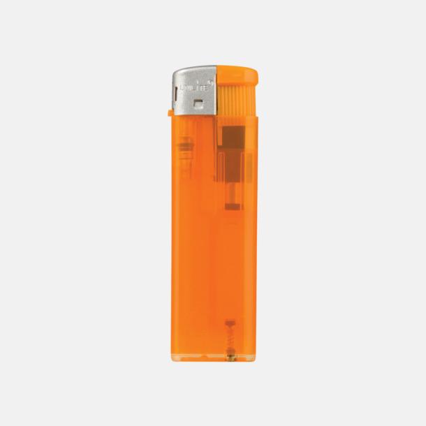 Transparent Orange Transparenta tändare med reklamtryck