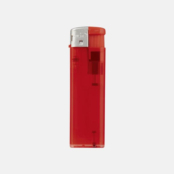 Transparent Röd Transparenta tändare med reklamtryck