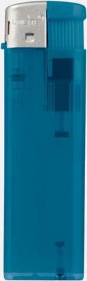 Transparent Blå Transparenta tändare med reklamtryck
