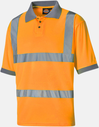 Orange Arbetskläder med reflexband - med reklamtryck