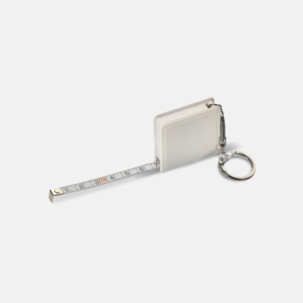 Vit Fyrkantiga nyckelringar med reklamtryck