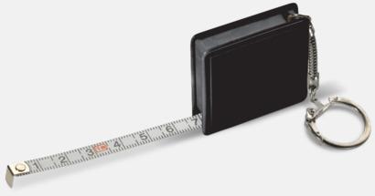 Svart Fyrkantiga nyckelringar med reklamtryck