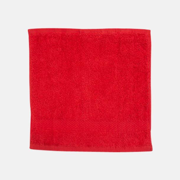 Röd Ansiktshandduk med egen brodyr