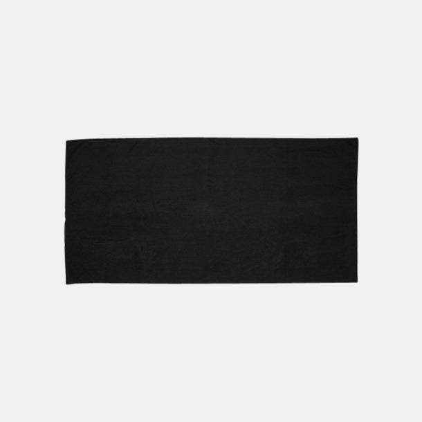 Svart (gästhandduk) Microfiber handdukar i 3 storlekar med reklambrodyr