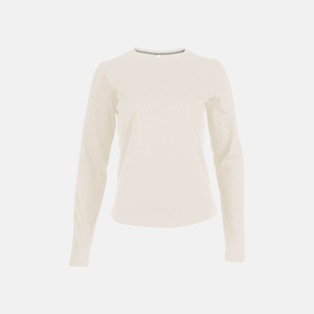 Light Sand (crewneck, dam) Långärmad t-tröja med rundhals för herr och dam med reklamtryck