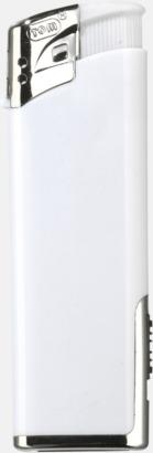 Vit Tändare med lampa med reklamtryck