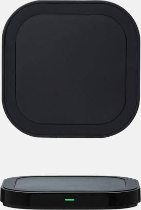 Svart Trådlösa laddningsplattor till mobilen med egen logga