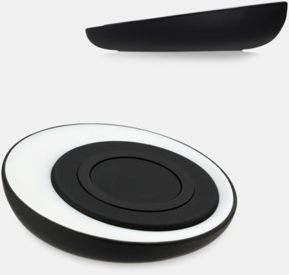 Vit Trådlös laddningsplatta för smartphones med egen logga