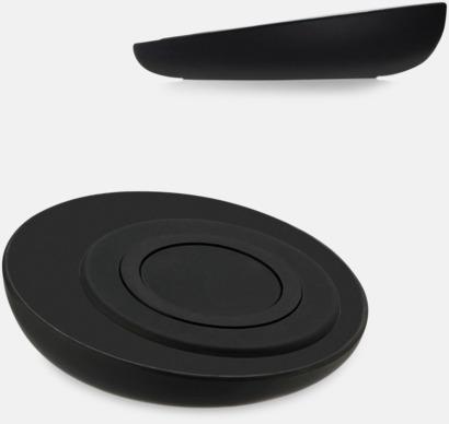 Svart Trådlös laddningsplatta för smartphones med egen logga